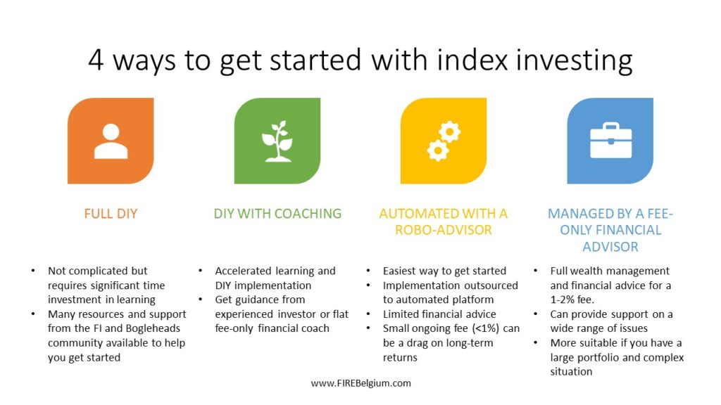 4 ways to get started index investing