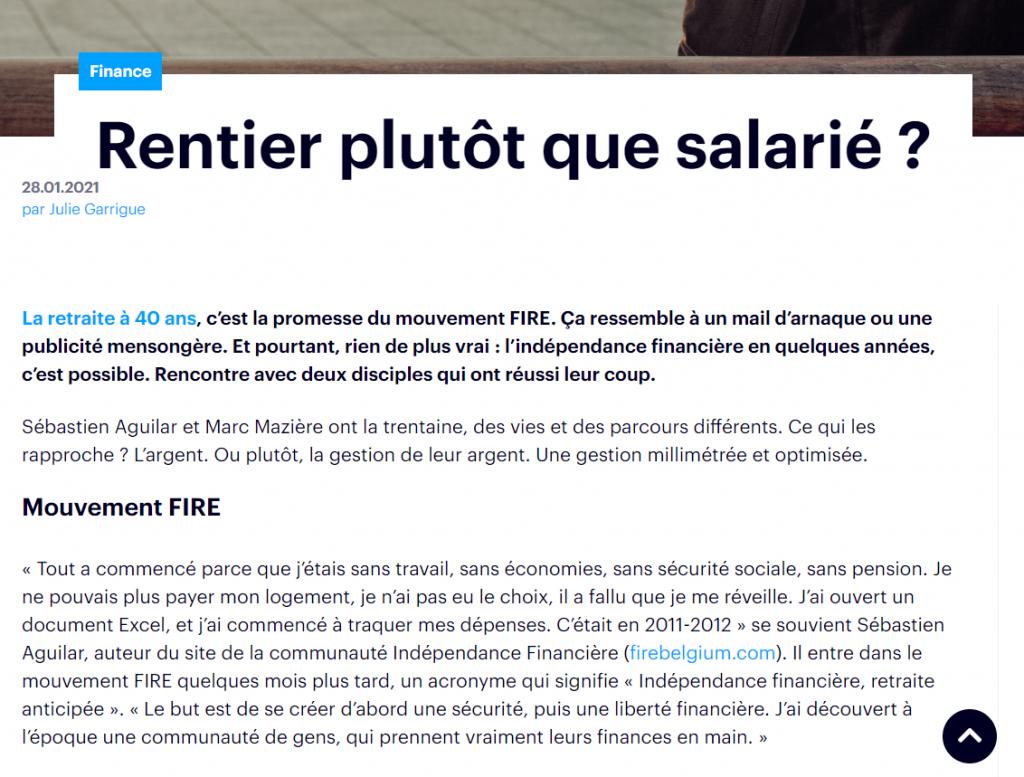 Fokus - Rentier plutot que salarie